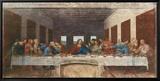 La Cène, vers 1498 Reproduction sur toile encadrée par  Leonardo da Vinci
