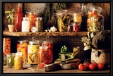 Gemüse Leinwandtransfer mit Rahmung