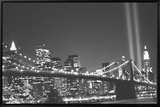 New York Innrammet lerretstrykk