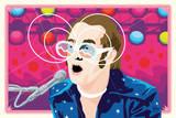 Elton John Print by Kii Arens