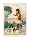 1920s France La Vie Parisienne Magazine Plate Giclée-Druck