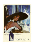 1950s France Bourjois Magazine Advertisement Giclee-trykk