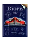 1930s USA Buick Magazine Advertisement Giclée-Druck