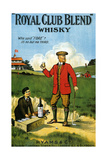 1900s UK Royal Club Blend Whisky Poster Gicléetryck