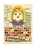 1960s UK Smarties Magazine Advertisement Reproduction procédé giclée