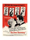 USA My Dear Secretary Film Poster, 1940s Giclée-Druck