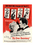 USA My Dear Secretary Film Poster, 1940s Giclee Print