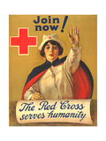 1910s USA The Red Cross Poster Giclée-vedos