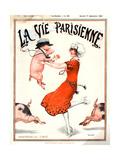 1920s France La Vie Parisienne Magazine Cover Giclée-tryk