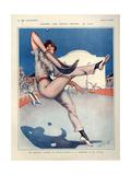 1920s France La Vie Parisienne Magazine Plate Giclee-trykk