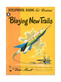 1950s USA Blazing New Trails Book Cover Impressão giclée