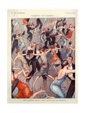 1920s France La Vie Parisienne Magazine Plate ジクレープリント