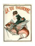 1920s France La Vie Parisienne Magazine Cover Giclée-Druck
