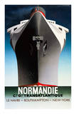 Normandie 1935 Art by Adolphe Mouron Cassandre