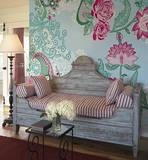 Paisley Rose Wandgemälde