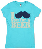 Women's: I Mustache You For A Beer T-skjorte