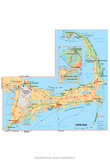 Michelin Official Cape Cod Map Art Print Poster Posters
