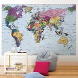 Mapa-múndi Mural de papel de parede