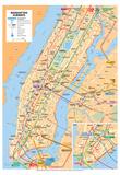 Michelin Official Manhattan Subways Map Art Print Poster Plakater