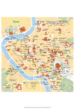 Michelin Official Rome French Map Art Print Poster Posters