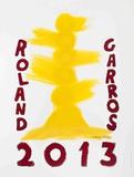 Roland Garros, 2013 Collectable Print by David Nash