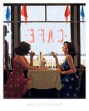 Café Days Poster von Jack Vettriano