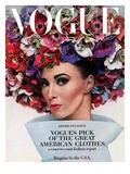 Vogue - February 1964 - Hat In Bloom Reproduction photographique Premium par Bert Stern