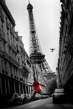 A roupa vermelha Posters por Thomas Kruesselmann