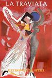 La Traviatta (Metropolitan Opera) Impressão colecionável por Marino Marini