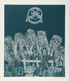 Night Festival (Green) Sammlerdrucke von Manuel Izqueirdo
