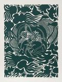 Marine Garden (Green) Limitierte Auflage von Manuel Izqueirdo