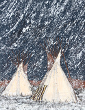 First Snow Collectable Print by Kevin Red Star