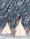 Första snön Samlarprint av Kevin Red Star
