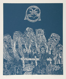 Night Festival (Blue) Særudgave af Manuel Izqueirdo