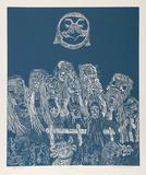 Night Festival (Blue) Limitierte Auflage von Manuel Izqueirdo