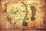 The Hobbit: An Unexpected Journey - Map Of Middle Earth Prints