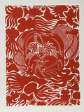 Marine Garden (Red) Limitierte Auflage von Manuel Izqueirdo