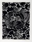 Marine Garden (Black) Limitierte Auflage von Manuel Izqueirdo