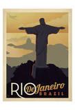 Rio de Janeiro, Brazil Poster di  Anderson Design Group