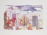 New York Landscape 4 Limited edition van Jacqueline Fogel