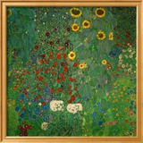 Bauerngarten mit Sonnenblumen, ca.1912 Poster von Gustav Klimt