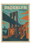 Brooklyn, New York Print by  Anderson Design Group