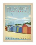 Melbourne, Australia: Brighton Beach Posters by  Anderson Design Group