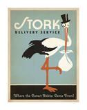 Stork Delivery Service (Blue) Láminas por  Anderson Design Group