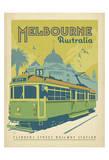 Melbourne, Australia Plakater af  Anderson Design Group
