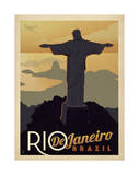 Rio de Janeiro, Brésil Affiches par  Anderson Design Group