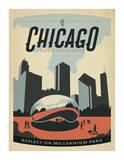 Chicago: The Cloud Gate Plakater af  Anderson Design Group