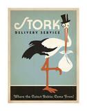 Stork Delivery Service (Blue) Affiche par  Anderson Design Group