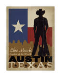 Austin, Texas: Live Music Capital Of The World Affiches par  Anderson Design Group