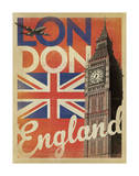 London, England (Flag) Posters by  Anderson Design Group